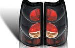 99-06 Chevy Silverado Altezza Tail Light, Black/Clear, by Winjet