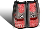 99-06 Chevy Silverado LED Tail Light, Chrome/Smoke, by Winjet