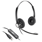 Plantronics Entera HW121N-USB-M Binaural Headset - 202239-01