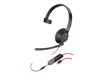 Plantronics Blackwire 5210 USB-C, 3.5mm Headset, MS Skype Cert - 207587-01