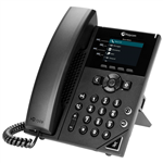 VVX 250 4-line Desktop Business IP Phone with dual 10/100/1000 Ethernet ports (2200-48820-025)