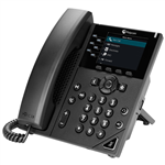 VVX 350 6-line Desktop Business IP Phone with dual 10/100/1000 Ethernet ports (2200-48830-025)