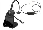 Jabra Engage 65 Mono with Link Electronic Hook Switch- 9553-553-125 + 14201-43