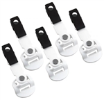 White Universal Clip for Vocera Communications Badge B3000 - 5 PACK (P-01985S)