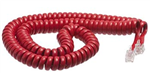 Red Handset Cord 12ft