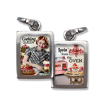 Betty Crocker-esque gal delights as the Cooking Queen jewelry charm