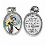 sassy and wise art jewelry charm