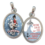 anyone can be cool, but awesome takes practice jewelry charm