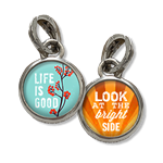 jewelry charm life is good and look at the bright side