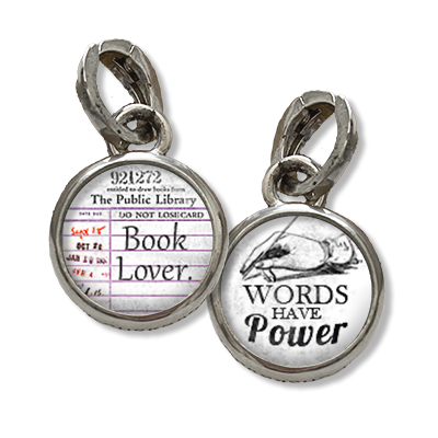 words have power jewelry charm