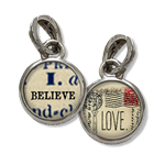 I believe in love jewelry charm