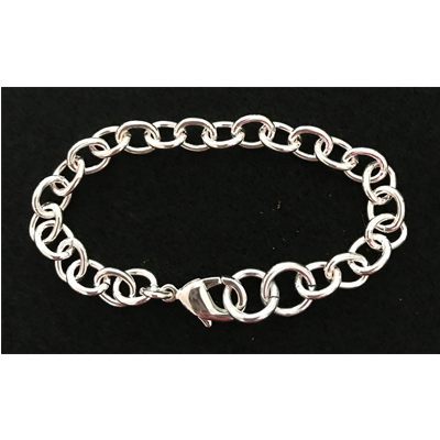 Silver-Plated Chain Link Bracelet