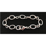Silver-Plated Oval Chain Link Bracelet