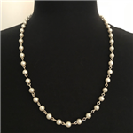 Pearl Rosary Necklace 24""