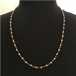 Silver and Gold  Rosary Necklace 24""