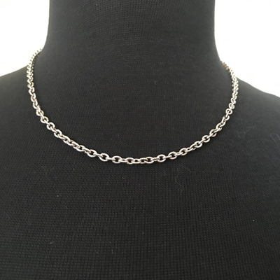 Silver-Plated Small Link Necklace 18""