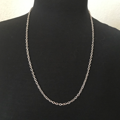 Silver-Plated Small Link Necklace 24""