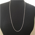 Silver-Plated Small Link Necklace 30""