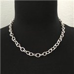 Silver-Plated Chain Link Necklace 18""