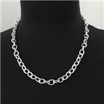 Silver-Plated Chain Link Necklace 20""