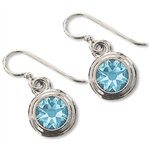 Aquamarine (March) Earring Wires
