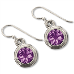 Amethyst (February) Earring Wires