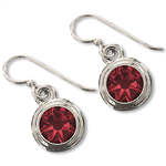 Garnet (January) Earring Wires