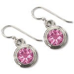 Pink Tourmaline (October) Earring Wires