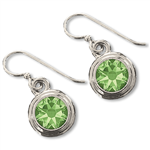 Peridot (August) Earring Wires