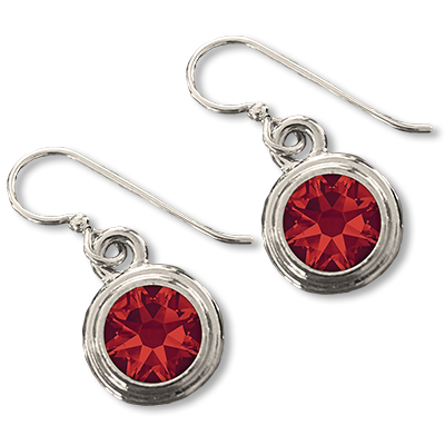 Ruby (July) Earring Wires