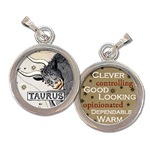 Taurus the Bull Zodiac art charm
