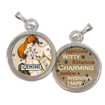 Gemini the Twins Zodiac art charm