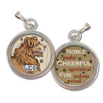 Leo the Lion Zodiac art charm