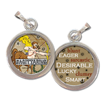 Sagittarius the Archer Zodiac art charm