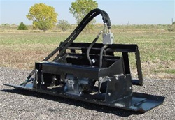 Skid steer compaction plate