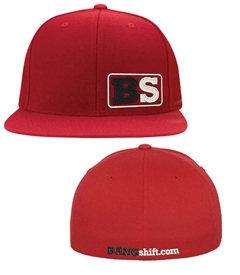 Bangshift B.S. Red Flexfit Flat Bill Cap