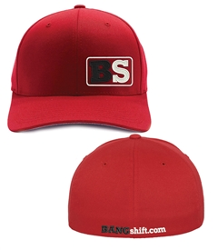 Bangshift B.S. Red Flexfit Regular Bill Cap