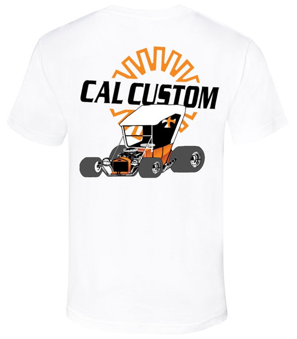 Cal Custom in White T-Shirt