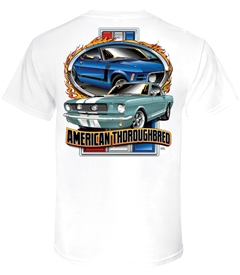 American Thoroughbred in White T-Shirt