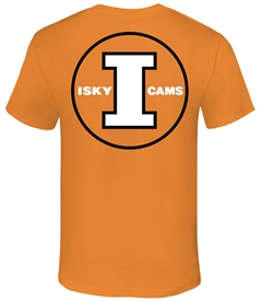 ISKY CAMS Logo Tee design Orange