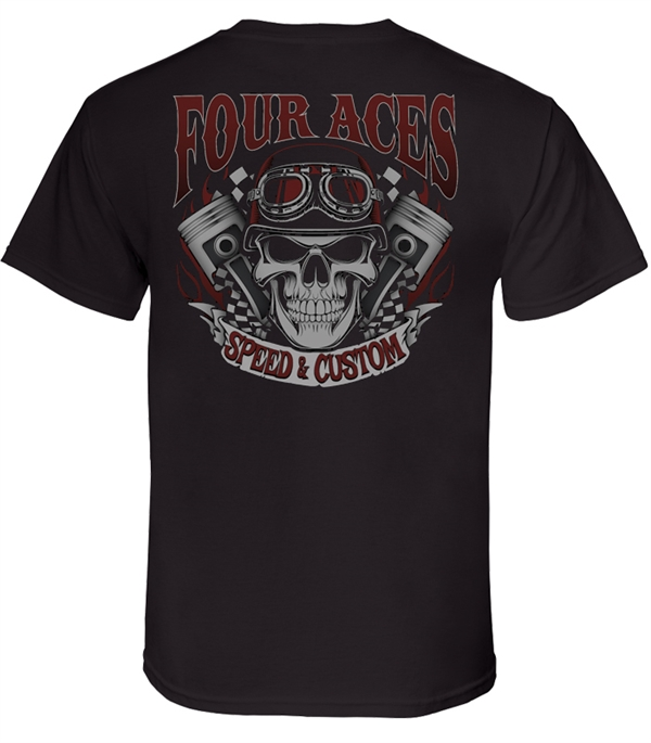 4 Aces Skull T-Shirt