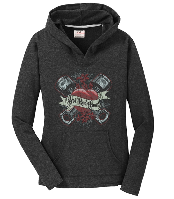 Hot Rod Honey Pistons Pullover Dark Grey
