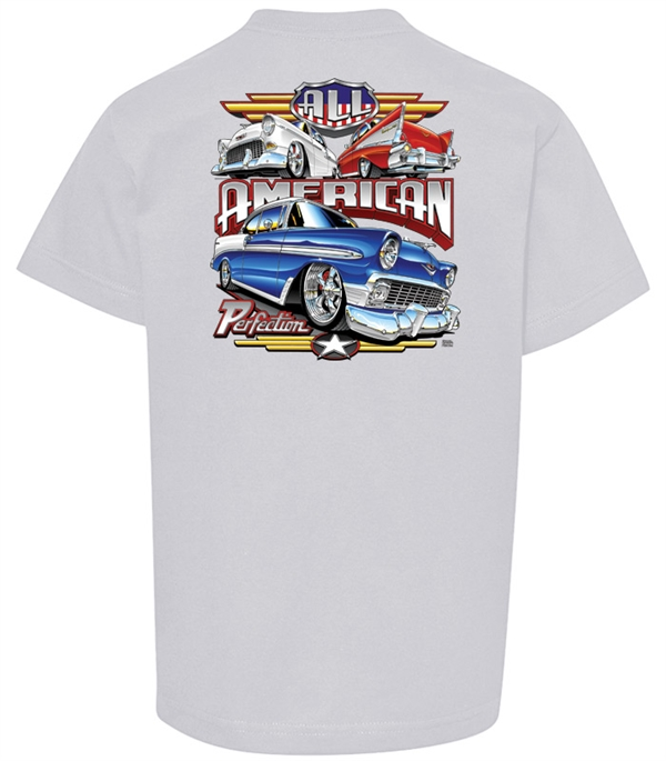 All American Perfection Silver Youth T-Shirt