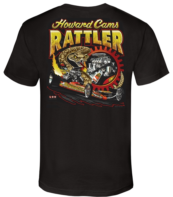 Howard Cams Rattler Black Tee - LON