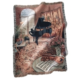 Music Room Woven Tapestry Throw
