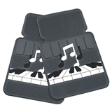 Keyboard & Notes Car Floormats