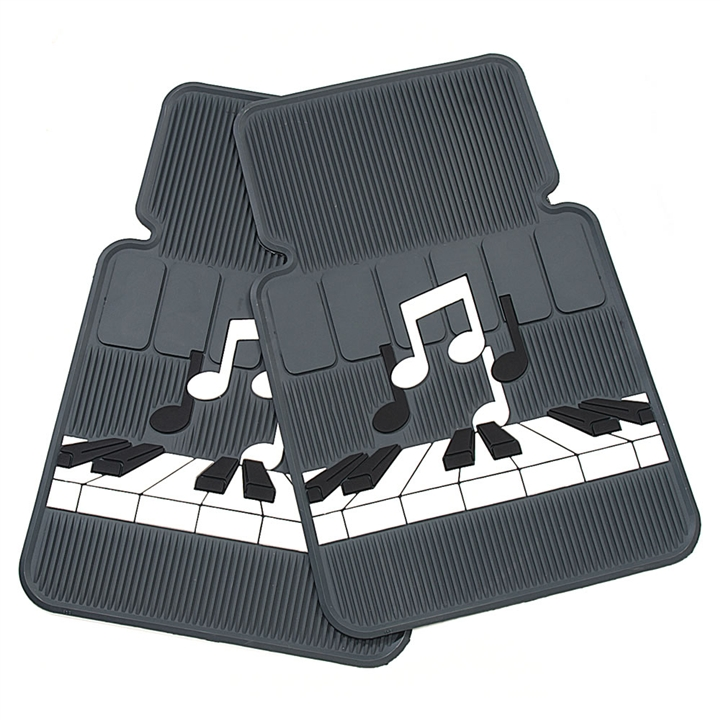 Keyboard And Notes Car Floor Mats At The Music Stand