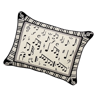 Melody Black & White Throw Pillow