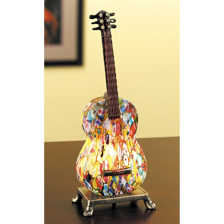 Millefiori Glass Acoustic Guitar Lamp at The Music Stand