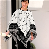 Classic Music Notes Poncho
